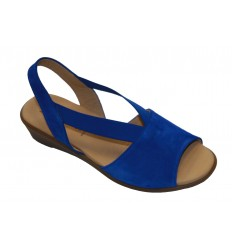 Sandale dama din piele albastra RELAX009