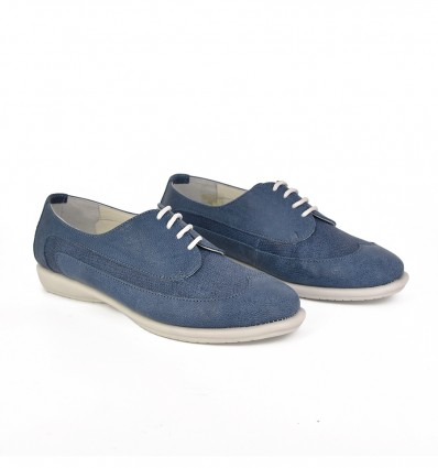 Pantofi piele cu siret relax050