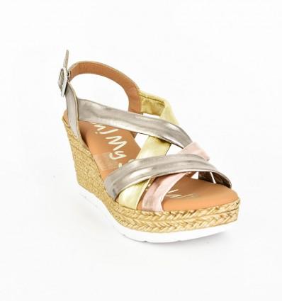 Sandale Dama cu platforma combi