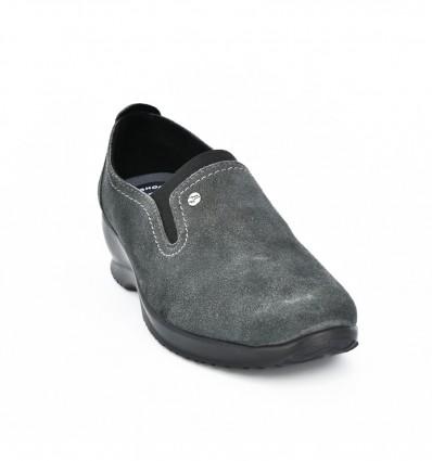 Pantofi din piele intoarsa gri Fly Flot 084