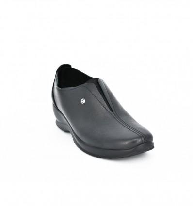 Pantofi din piele neagra Fly Flot 085