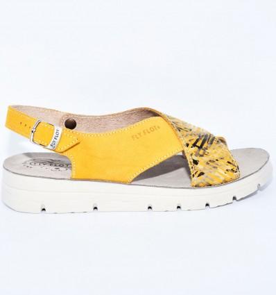 Sandale din piele naturala Fly Flot 103