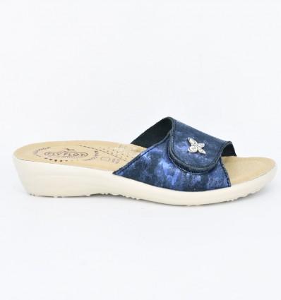 Papuci din piele ecologica Fly Flot 106