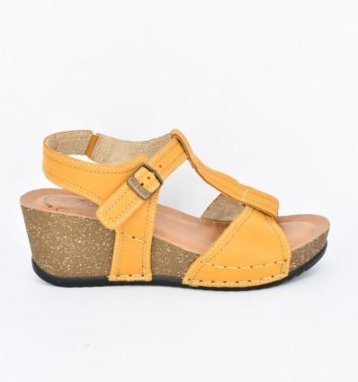 Sandale din piele naturala Fly Flot 115