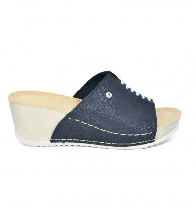 Papuci din piele naturala Fly Flot 117