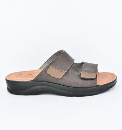Papuci din piele ecologica Fly Flot 122