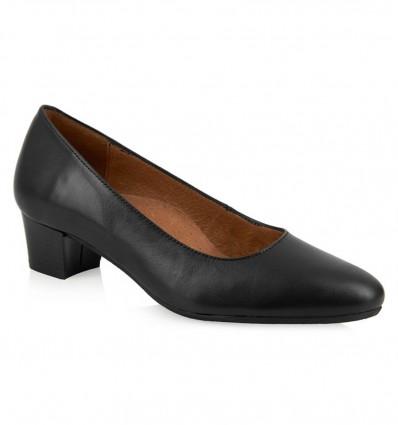 Pantofi din piele cu toc mic madrid