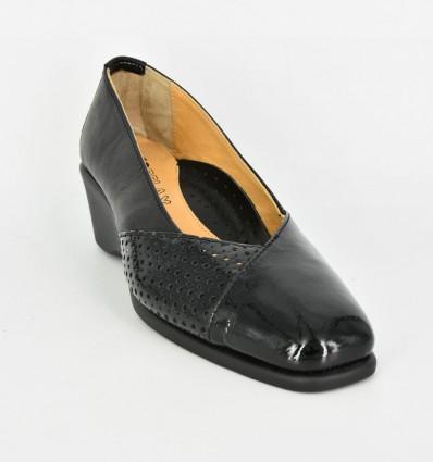 Pantofi de Piele Neagra Relax069