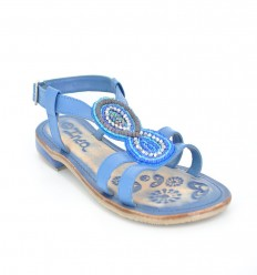 Sandale dama din piele albastra EBAU